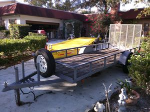 6.5' (ft) x 17' (ft) Utility Trailer with Mesh Ramp-$1,175(Orlando, FL) for Sale in Orlando, FL