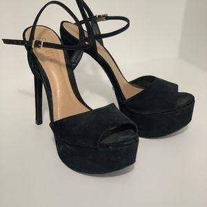 Schutz Platform Sandals in Black Velvet - BRA 37 for Sale in Miami, FL