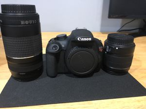 Canon Rebel EOS T5 with 18-55mm and 75-300mm lenses for Sale in Eatontown, NJ