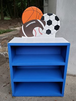 Sports Bookcase(New, Hand-Crafted, Wood) for Sale in Pleasantville, NY