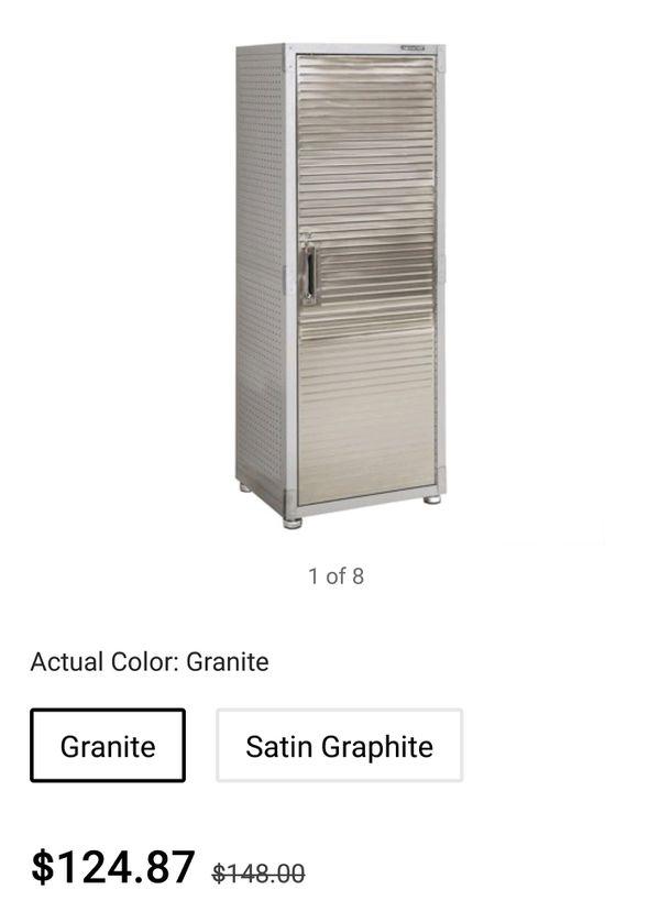 Heavy duty tall storage cabinet