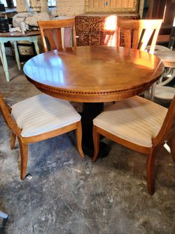 45 Round Pedestal Dining Table With 4 Chairs for Sale in Raleigh,  NC