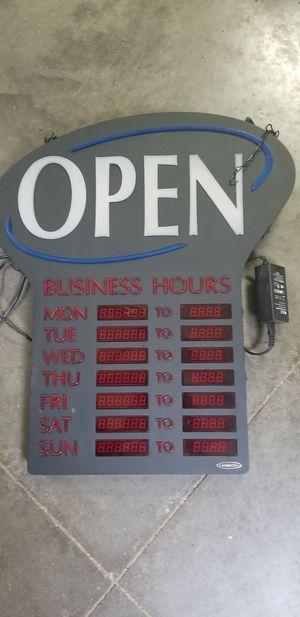 Open sign for Sale in Cedar Rapids, IA
