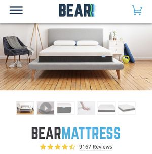 Bear Mattress and Zinus Bed frame (Queen) for Sale in Wilmington, DE