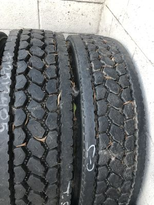 Used tires 11r225 BS M726 (2) two trailer tires 11r225 BS R196 for Sale in E RNCHO DMNGZ, CA