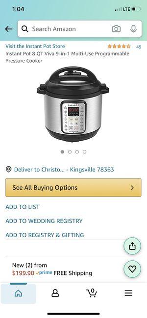 Brand New - Instant Pot Viva 8 quart for Sale in Rosharon, TX
