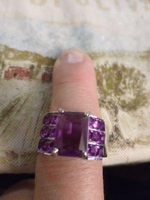 925 Sterling Silver Amethist Ring for Sale in Las Vegas, NV