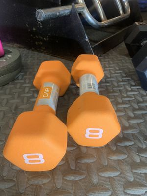 Set of 8lbs Neoprene Dumbbells for Sale in Cleveland, OH