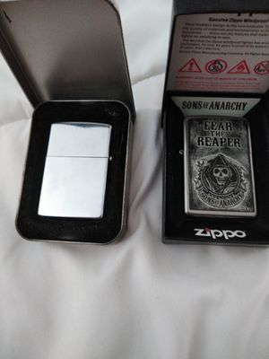 2 Zippo lighters both w cases for Sale in West Deptford, NJ