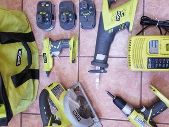 Ryobi Tools! Batteries, Power Drill, Glue Gun, Sawsoff, Power Saw, Bag , Charger for Sale in Staten Island,  NY