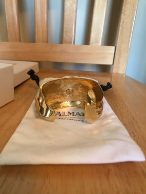 Balmain Metallic Gold Cuff Bracelet for Sale in Washington, DC