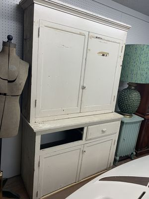 Old wooden white garage storage cupboards for Sale in Beaver Falls, PA