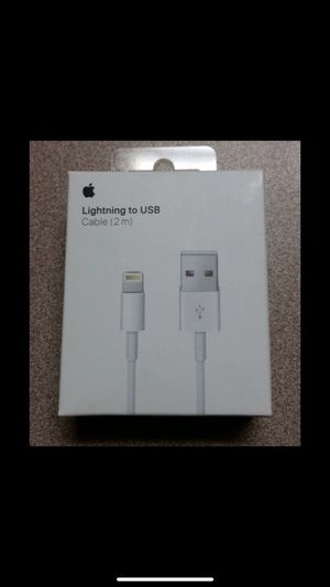 iPhone charger cable new in Sealed Box: Apple Lightning Charge (long 2M) Cable for Sale in Moreno Valley, CA