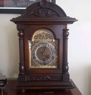 Antique c1910 Kienzle chiming Bracket oak 8 day clock German mantle for Sale in Arlington, VA