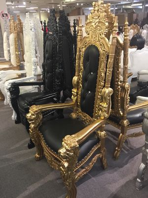 Free nationwide delivery | assorted colors king throne chairs queen princess royal baroque wedding event party photography hotel lounge boutique furn for Sale in Nashville, TN