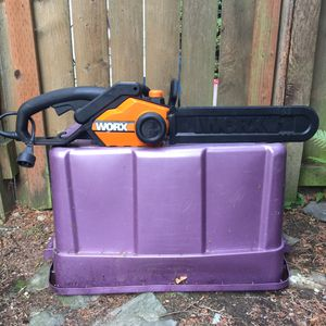 "Worx WG303 16"" Electric Chainsaw for Sale in Ruston, WA"