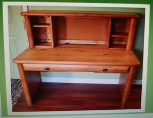 Wood desk and chair for Sale in Odenton, MD