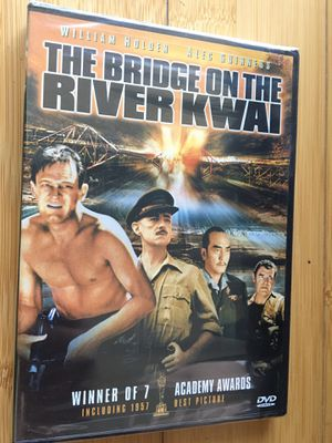 The Bridge On The River Kwai Brand New DVD (Sealed) in Manufacturers Shrink Wrap $7.00 Best Picture Award For 1957 Academy Awards! for Sale in Fort Lauderdale, FL