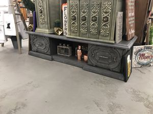 Gray media stand / tv stand / long sofa or console table for Sale in Cherry Hills Village, CO