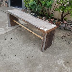 Reclaimed wood benches. 4 in stock this weekend. Outdoor patio furniture farmhouse rustic beachy coastal for Sale in La Mesa, CA