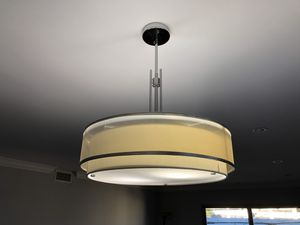 Double drum pendant chandelier light for dining table for Sale in Los Angeles, CA