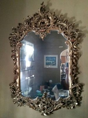 Incredibly ornate carved giltwood baroque mirror for Sale in Los Angeles, CA