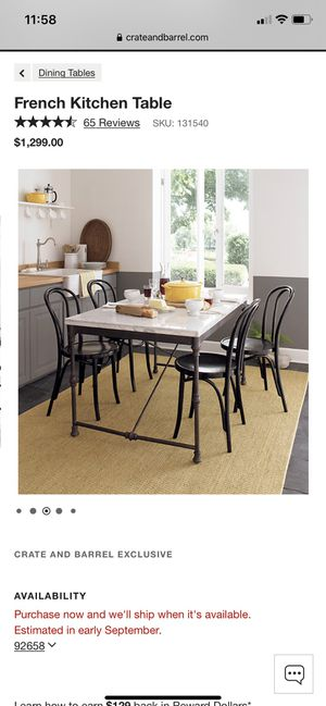 Crate and Barrel table for Sale in Encinitas, CA