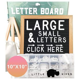 Felt Letter Board 10x10 | +690 PRE-Cut Letters +Stand +Sorting Tray | for Sale in Bakersfield, CA