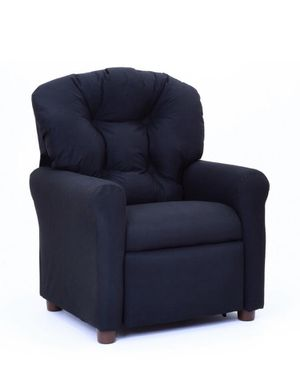 Kids Traditional Reclining Chair Rich Black Microfiber - The Crew Furniture TARGET for Sale in Anaheim, CA