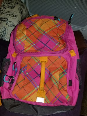 Plaid pink and orange backpack for Sale in Dallas, TX