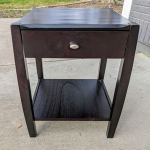 One Black Wooden Single Drawer End Table for Sale in Mesa, AZ