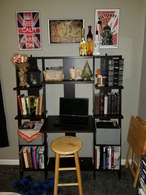 Tiered desk with bookshelves for Sale in Tinton Falls, NJ