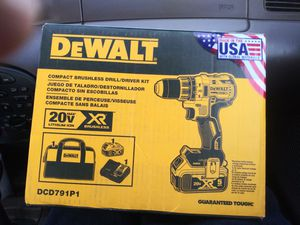 20-Volt MAX XR Lithium-Ion Brushless Cordless 1/2 in. Drill/Driver with 5 Ah Battery, Charger and Tool Bag for Sale in LOS RNCHS ABQ, NM