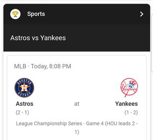 2 tickets for Astos at Yankees tonight (standing room only) $125 each for Sale in Queens, NY