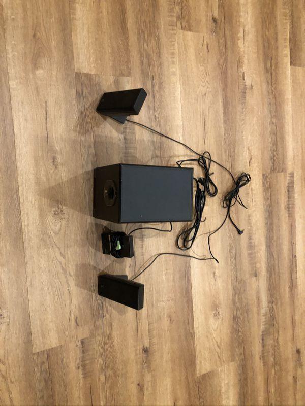Logitech X-240 Surround Sound 2.1 Computer Speaker System with Subwoofer