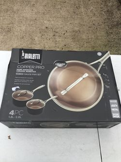 Bialetti Copper Pro 4-piece Sauce Pan Set-new for Sale in Sachse,  TX