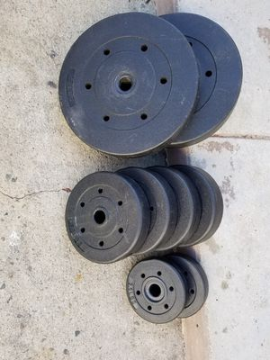 85 pounds libras lbs weights. In great condition. Exercise equipment. Fitness gear. . for Sale in San Gabriel, CA
