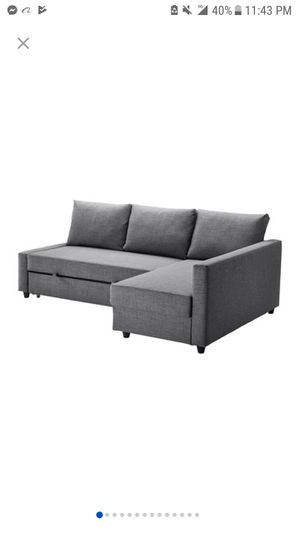 Sleeper sectional couch , 3 seat with storage for Sale in Portland, OR