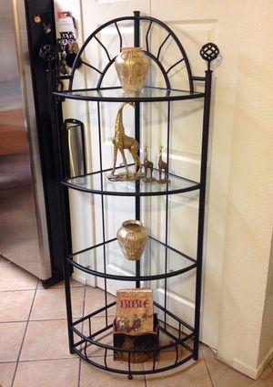 Black Wrought iron corner shelf $40.00 for Sale in Las Vegas, NV