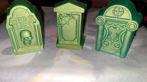 Set of 3 glow in the dark Tombstones for Sale in St. Louis, MO