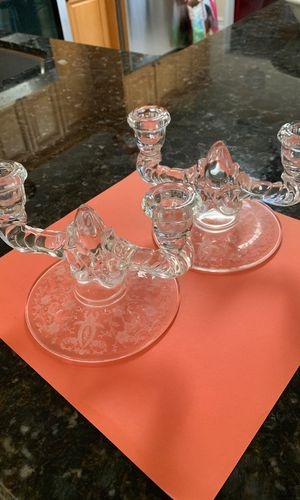 Vintage Glass Candlesticks for Sale in Delray Beach, FL