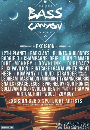 Bass canyon concert ticket gorge for Sale in Everett, WA