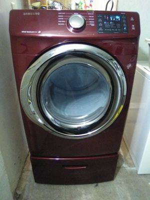 Red Samsung Steam front load Dryer with drawer for Sale in Ephrata, PA