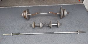 Cast Iron Weight Set 170LB for Sale in Clearwater, FL