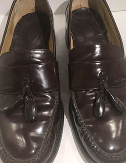 Tauer & Johnson Leather Tassel Loafer Handcrafted Shoes Mens 10 2E for Sale in Austell,  GA