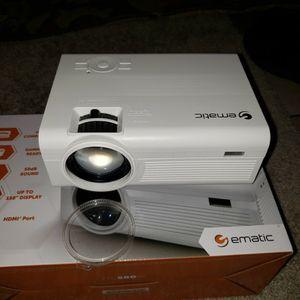 "150"" HD Multimedia Theater (Mini) Projector Ematic for Sale in Mundelein, IL"