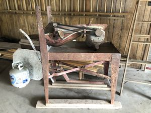 "14"" Cement Masonry Saw w/extra Blades and Table for Sale in Naperville, IL"