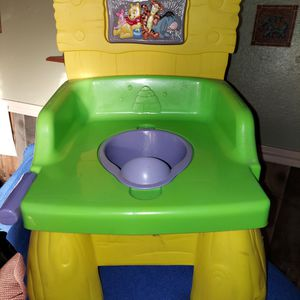 Used Winnie the Pooh Potty Chair With Sounds for Sale in Mesquite, TX