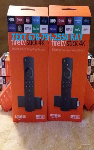 All New 4K HDR Unlocked Amazon Fire TV Stick w/ Voice+Volume Remote for Sale in Conley, GA