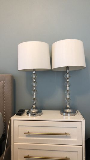 Two silver crystal lamps for Sale in Arlington, VA